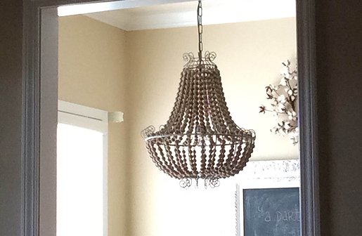 sweet p's decor, fixer upper, fixer upper decor, fixer upper style, fixer upper home, rustic home decor, beaded chandelier, cottage decor, farmhouse decor, farmhouse style