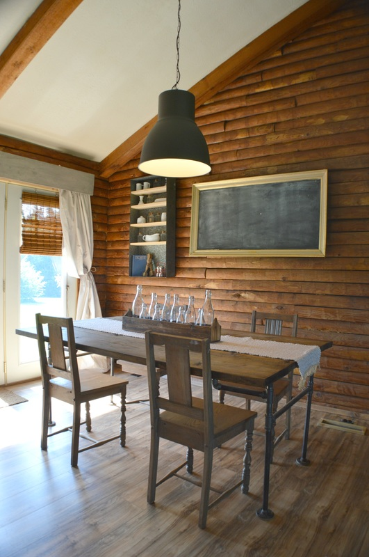 dinning room, dinning room renovation, renovation, cabin renovation, diy home, home renovation, log home, log cabin, cabin life