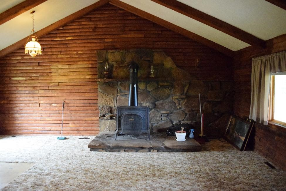 cabin, cabin life, renovation, cabin renovation, ripping up carpet, log home, log cabin, log home renovation
