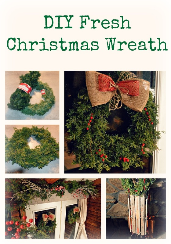 sweet p's decor, sweet ps decor, Christmas wreath, Christmas fresh wreath, DIY, DIY Christmas wreath, fresh wreath, fresh Christmas wreath, farmhouse, farmhouse decor
